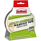 UniBond 1667370 Easy on Easy off Masking Tape, Extra Wide / for painting, art or crafting / 38mm x 25m