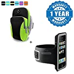 Sports Bag with Double Zipped Pocket Sport Gym Running Armband Bag Case cover provide a very Durable, lightweight and stylish armband that Protects your device with high-quality style, its double zipped pocket helps you to keep cards, money, even a c...