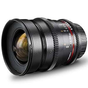 Walimex Pro 24 mm 1:1,5 VCSC Foto- und Videoobjektiv für Sony E Objektivbajonett schwarz (manueller Fokus, für Vollformat Sensor gerechnet, Filterdurchmesser 77mm, IF, stufenlose Blendeneinstellung)