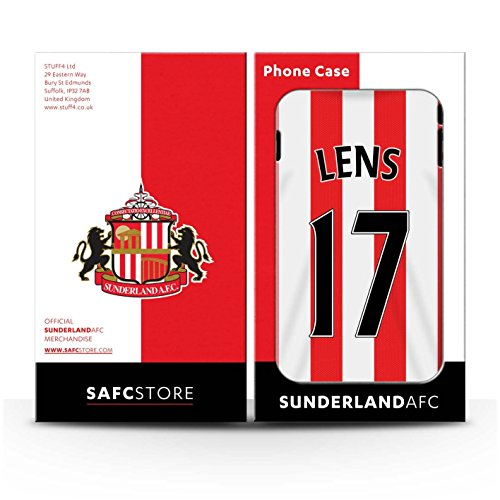 Offiziell Sunderland AFC Hülle / Case für Apple iPhone 4/4S / Larsson Muster / SAFC Trikot Home 15/16 Kollektion Lens