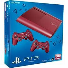 Playstation 3 - Konsole Super Slim 500 GB Rot (Inkl. 2 Dualshock 3 Wireless Controller Rot) [Importación Alemana]