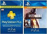 PS Plus Mitgliedschaft 12 Monate + Battlefield 1: Premium Pass - Season Pass DLC [PS4 Download Code - österreichisches Konto]