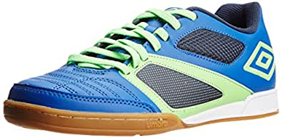 Umbro Men's's Umbro Futsal Street 2  Team Royal and Green Gecko Leather Sport Shoes - 11 UK (UMBSA)