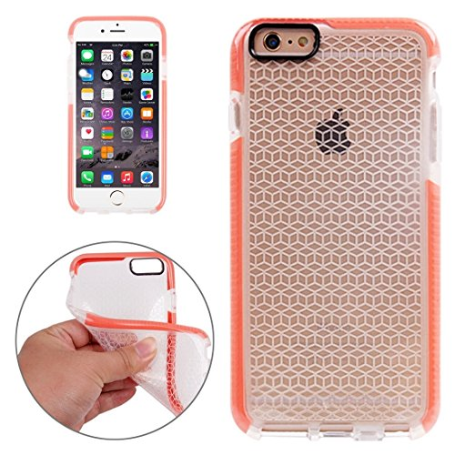 Phone case & Hülle Für iPhone 6 / 6s, Tridimensional Diamond Pattern TPU Schutzhülle ( Color : Black ) Orange