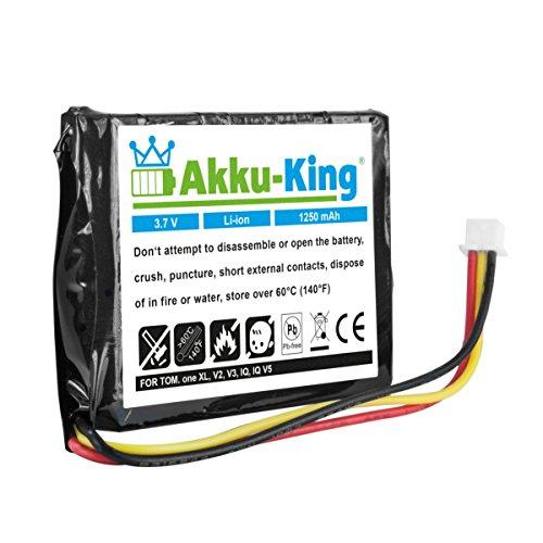 Akku-King Batterie pour Tomtom One V2 V3 V5 Europe V2 Regional V2 V3 XL XL Europe Rider - remplace F720072696 F709070710 - Li-ION 1250mAh