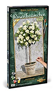 Simba Schipper 609220777 - Pintura por número, diseño de árbol de Rosas, Color Blanco