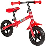 "Rexco Kids Childrens First Balance Training Lightweight Metal Bike 10"" Wheel Cycle Bicycle[Red]"