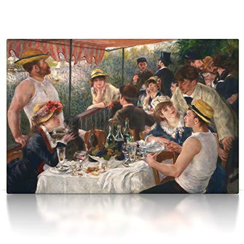 Auguste Renoir Leinwand (CanvasArts Frühstück der Ruderer - Pierre-Auguste Renoir - Leinwand Bild auf Keilrahmen (80 x 60 cm, Leinwand auf Keilrahmen))
