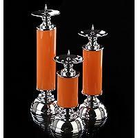 Supporto di candela di vetro macchiato di lusso moderno neo-classico , large and small sets of