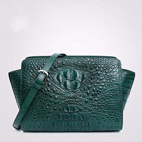 lpkone-Style Alligator Mesdames sacs à main, les ailes de la mode européenne baodan sac à bandoulière sac Messenger Green