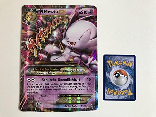übergroße holografische Karte Mega M Mewtu EX 64/162 210KP (Neue Pokemon Karten Ex Mega)