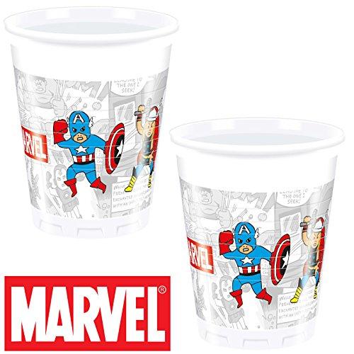 TEAM POWER * für Kindergeburtstag oder Mottoparty // Neu 2018 // Marvel Kinder Geburtstag Motto Party Partybecher Cups (Avengers-kunststoff-cups)