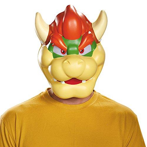 Disguise - Bowser Maske Lizenzartikel beige-rot-grün - Super Mario