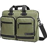Samsonite Madagascar Slim Laptop Briefcase - Olive/Black