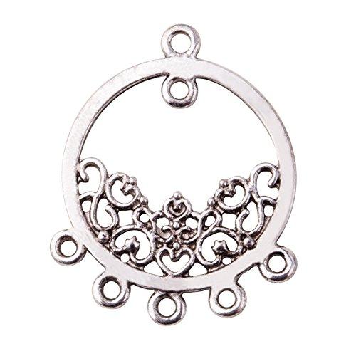 pandahall-lot-de-10-connecteurs-chandeliers-rondes-style-tibetain-en-alliage-couleur-argent-antique-