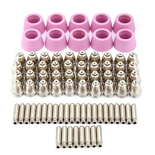 AG-60 SG-55 Plasmaschneider, 0~60A Schneidbrenner Verbrauchsmaterial Elektrodendüsen Becher Kit Zubehör Plasmaspitzen Düsen 80 Teile/satz