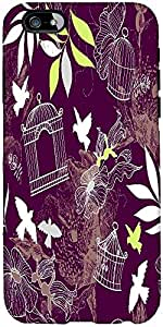 Snoogg Birds And Bird Cages Seamless Pattern Designer Protective Back Case Co...