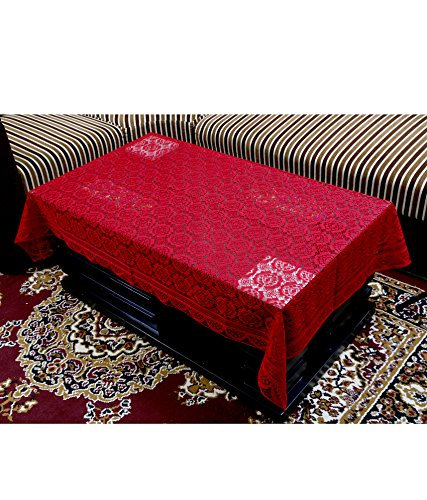 Kuber Industries™ Center Table Cover Maroon Cloth Net 40*60 Inches (C01)