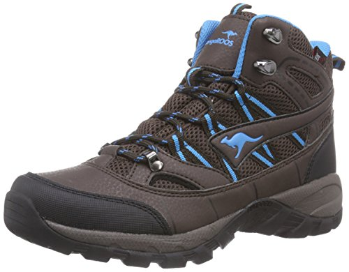 KangaROOS K-Outdoor 8090, Scarponi da trekking ed escursionismo donna, Marrone (Braun (dk brown/smaragd 388)), 37