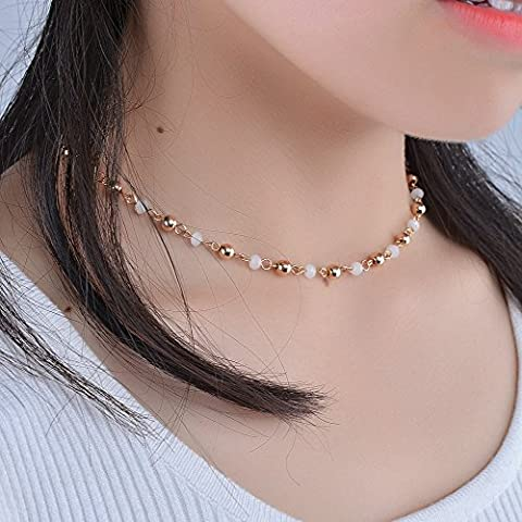 OverDose Necklace Fashion Accessories Crystal Sequins Necklace Tassel Flash Gift