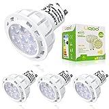 Liqoo® 4er GU10 LED Lampe, ersetzt 45W Glühlampe, 7W 500lm, Warmweiß, 3000K, 45° Abstrahwinkel, 230V LED Birnen, LED Leuchtmittel