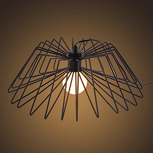 Crayom Nordic einfache Eisen Spinne Tischlampe Vogelkäfig Beleuchtung Spinne Tischleuchten Wohnzimmer Schlafzimmer Restaurant Lichter Durchmesser: 45 cm