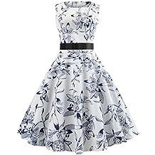 437d458a6bd Kleider Damen Abendkleid Ballkleid Cocktail Party Swing Rockabilly 1950er  Vintage Elegant Hepburn Hochzeit Spitzen Brautjungfern