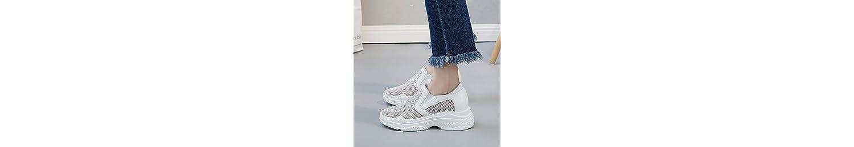 KPHY-Zapatos Tenis Zapatos De Mujer Zapatos De Deportes De Salvajes Perezoso Transpirable Red Zapatos Casuales... -