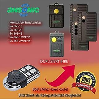 Handsender 868 MHz für ANSONIC SA 868-1E, ANSONIC SA 868-2E, ANSONIC SA 868-4E, ANSONIC SA 868-1MINI/M , ANSONIC SA 868-2MINI/M Antriebe