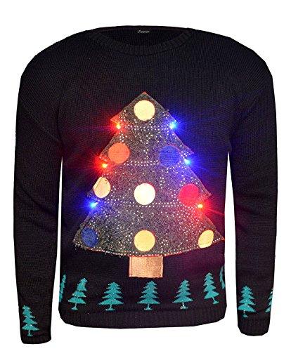 *Fast Fashion Frauen Jumper Langen Ärmeln Weihnachtsbaum Led Licht Xmas Neuheit*