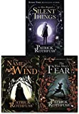 The Kingkiller Chronicle Collection Patrick Rothfuss 3 Books Set (The Wise Mans Fear, The Slow Regard of Silent Things, The N