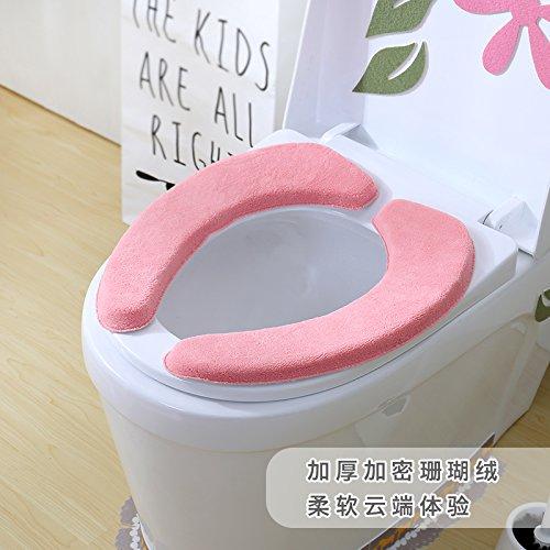 Felpudos Frikis wc cojín asiento de inodoro wc pegatinas,Rosa