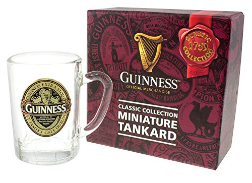 Guinness Label (Mini Tankard With Guinness Classic Collection St. James Gate Label Design)