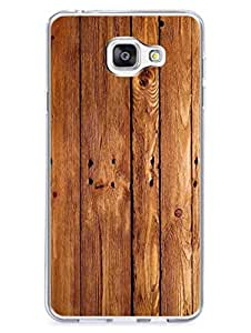 Samsung C7 Cover - Wooden Texture - Printed Wooden Texture - Trendy Pattern - Designer Printed Hard Case with Transparent Sides