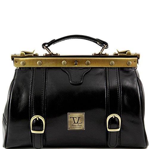 Tuscany Leather - Monalisa - Borsa medico in pelle con fibbie frontali Nero - TL10034/2 Nero