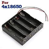 Calli Kunststoff-Batterieaufbewahrungskoffer Kastenhalter für 4 x 18650 Akku