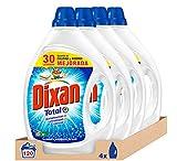 Dixan Detergente Líquido Total - Pack de 4, Total: 120 Lavados (6 L)