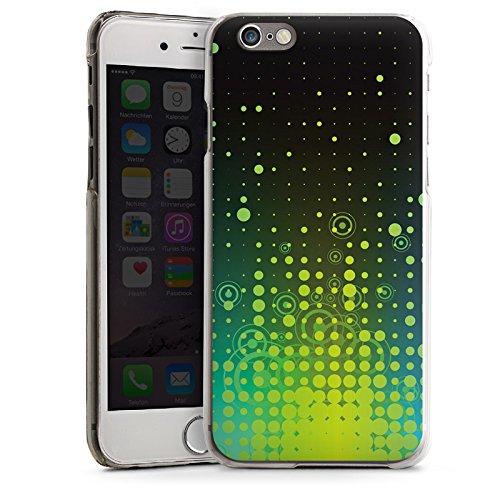 Apple iPhone 4 Housse Étui Silicone Coque Protection Points Cercles Motif CasDur transparent