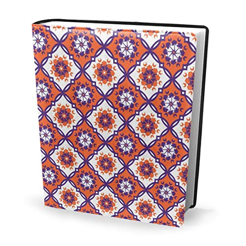Dress rei Book Cover Clemson Medallion inch Repeat Waterproof PU Leather School Book Protector Washable Reusable Jacket 9x11 in Medallion-boot