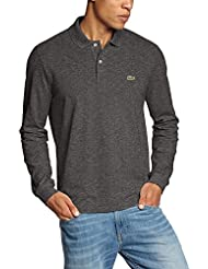 Lacoste - Polo - Manches longues Homme -  Gris - Grey (DARK GREY JASPE 08H) - Medium