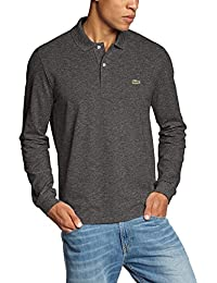 Lacoste - Polo - Manches longues Homme -  Gris - Grey (DARK GREY JASPE 08H) - Large
