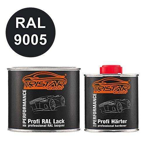 TristarColor RAL 9005 Tiefschwarz 2K Autolack glänzend 0,75 Liter/750 ml Dose inkl. Härter