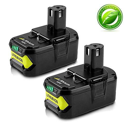 2x Boetpcr P108 18V 5,5Ah Lithium-Ion Pack Remplacement de Batterie Remplacement pour Ryobi ONE+ P108 P107 P104 P105 P102 P103 avec LED Indicateur