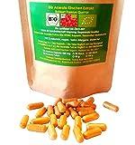 360 Bio Acerola 450 mg vegane Kapseln naturreines + hochdosiertes Vitamin C hochwertige Bio Verarbeitung in Deutschland im Spar Pack