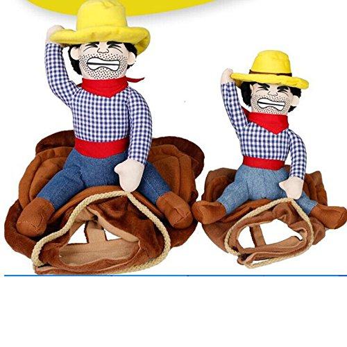 Kostüm Cowboy Für Hunde - Wuudi Pet Kostüm, Hund Katze Haustiere Anzug Lovely Kostüme Haustiere Kleidung Cowboy Kostüme für Kleine Hunde und Katzen groß