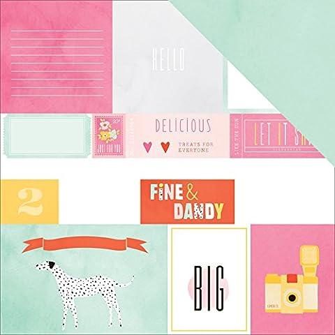 American Crafts–Fine e dan-fine Dandy Foil carta, in acrilico,