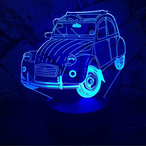 USB 3D LED Lampe Claasic Vintage Car 7 Farbwechsel Tisch Schreibtisch Nachtlicht Dekor Junge Kind Weihnachten Geburtstagsgeschenk Halloween (Halloween-dekor Waren Hause Zu)