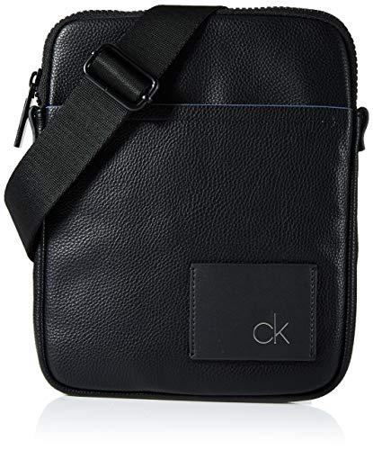 Calvin Klein Herren Ck Direct Flat Crossover Taschenorganizer, Schwarz (Black), 3x36x20 cm - Klein Geldbörse Männer Calvin