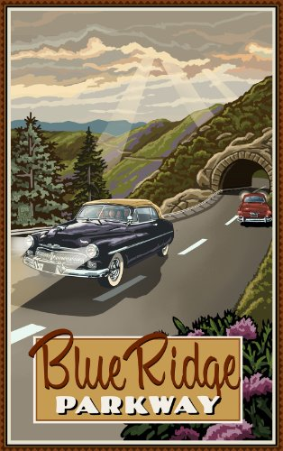 Northwest Art Mall Blue Ridge Parkway Cars mit Tunnel North Carolina Art Wand von Paul eine lanquist, 11von 43cm
