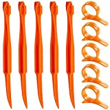 Orange Citrus Peelers, SENHAI Set von 10 Kunststoff Frucht Zitrone Hautentferner Slicer